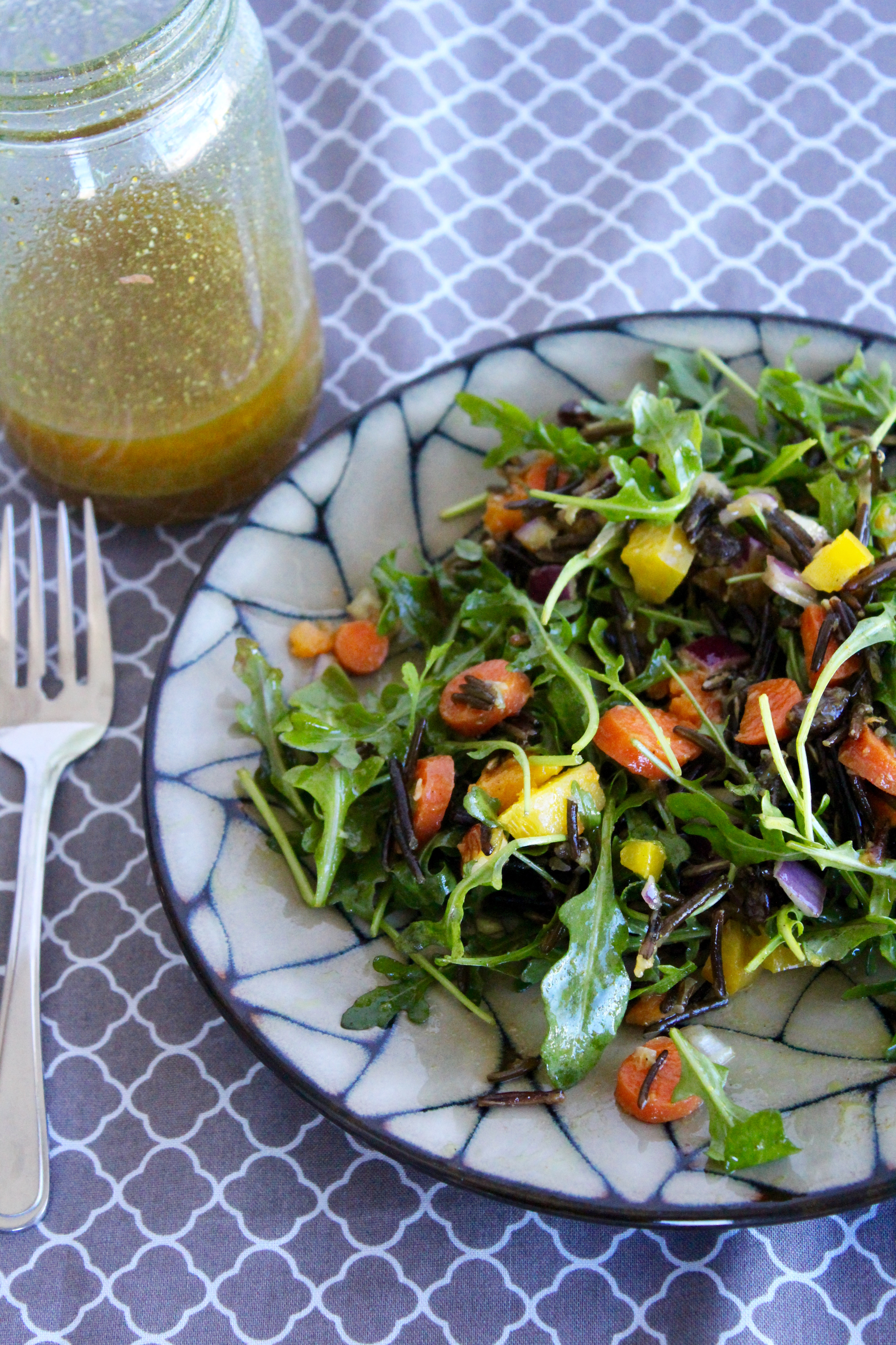 The best Moroccan Wild Rice Salad! Yum! So much flavour!