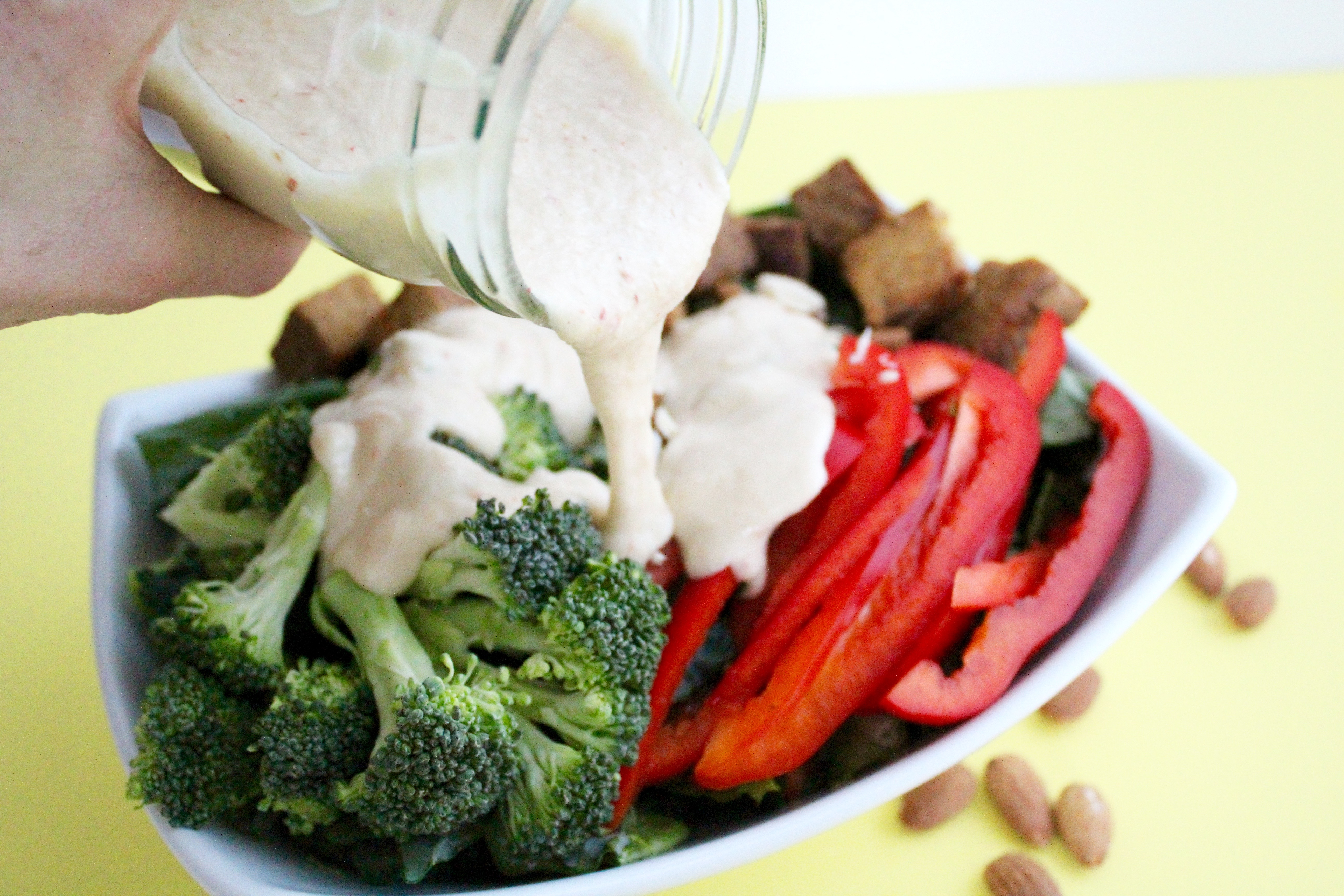 I LOVE THIS DRESSING! So creamy and good! And totally vegan!