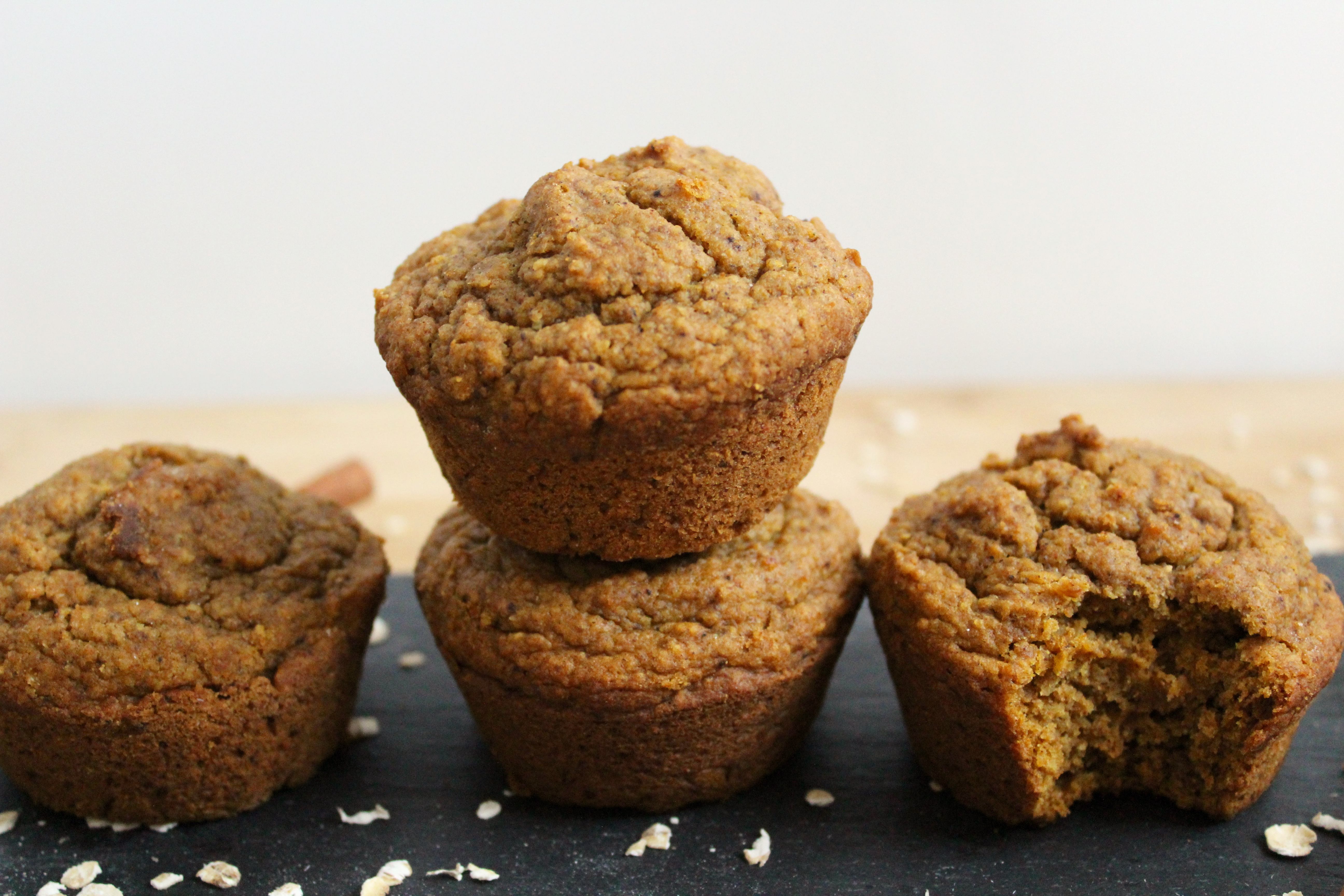 Pumpkin Spice Muffins that are super moist, naturally sweetened and vegan!