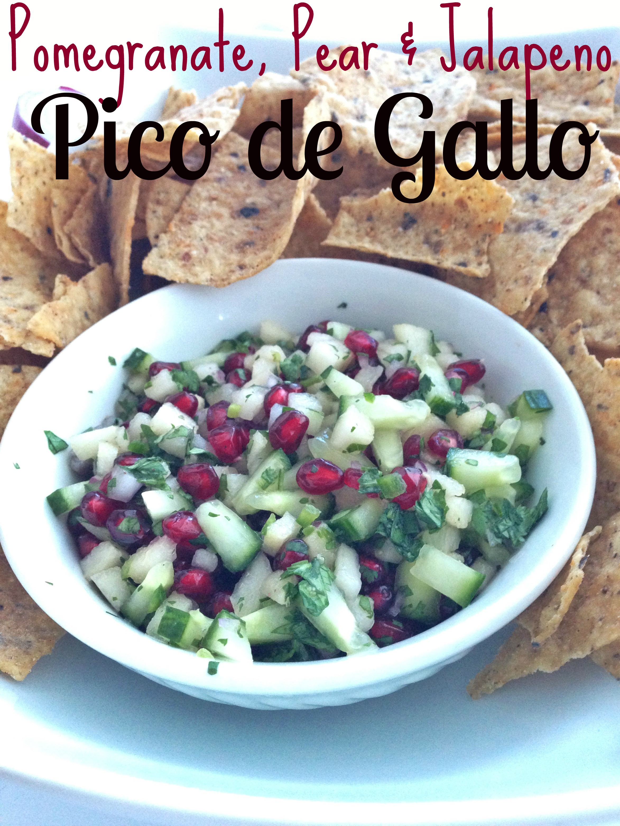 pomegranate pear jalapeño pico de gallo